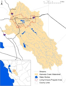 Alameda Creek Watershed map