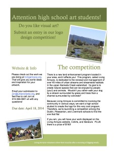 Living Arroyos Logo Competition Flyer